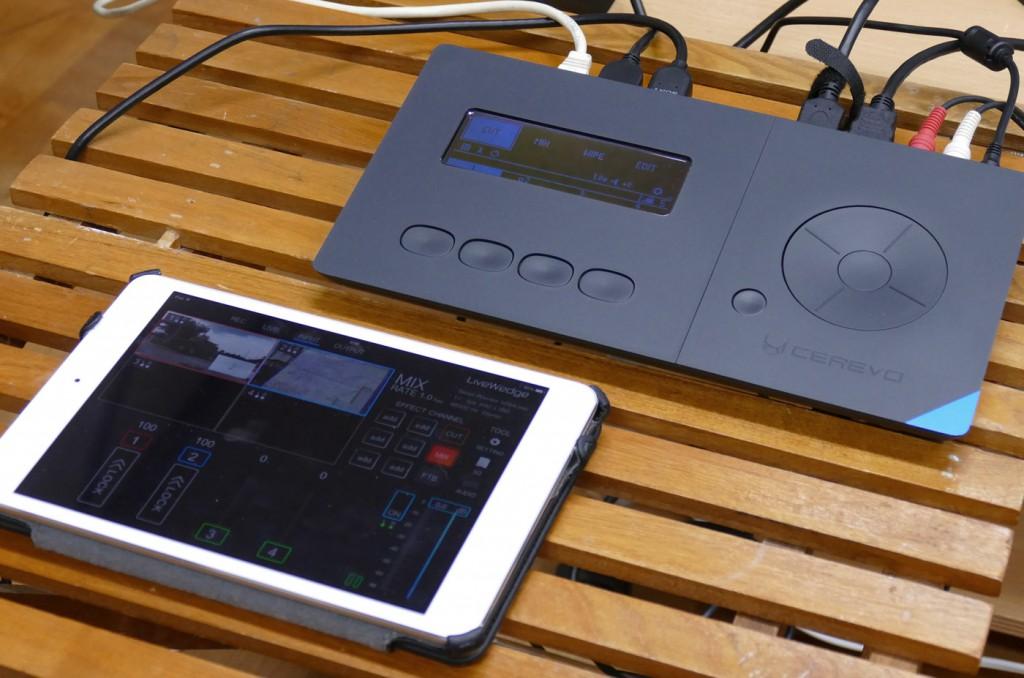 LiveWedgeと操作をするiPadアプリ