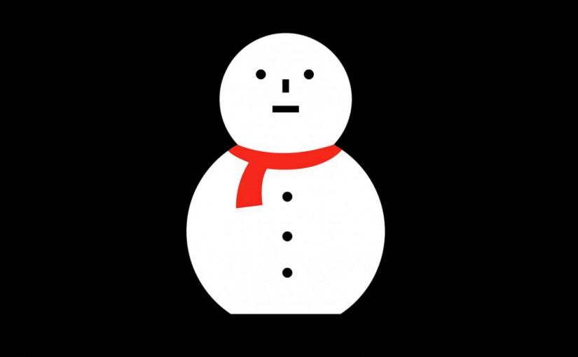 雪だるまのプロジェクターアート