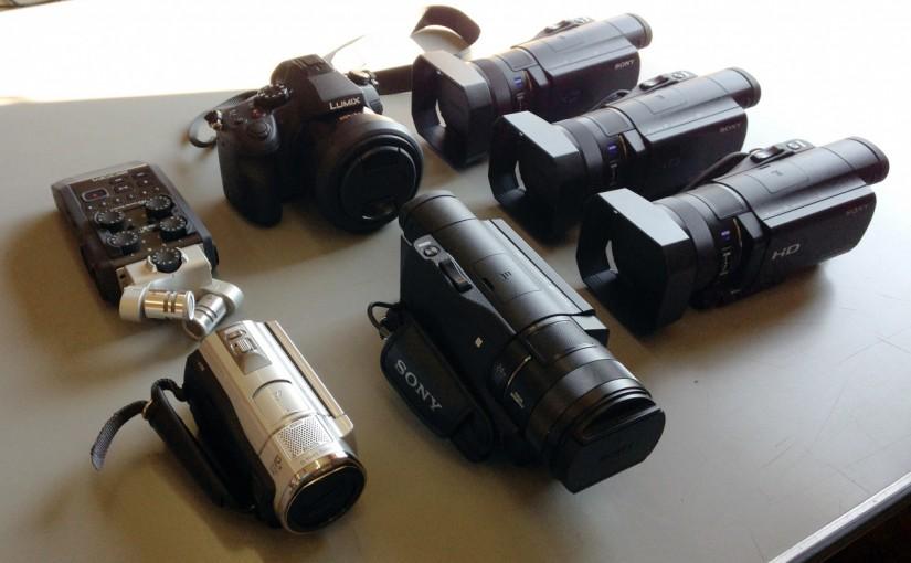 カメラ6台でビデオ撮影